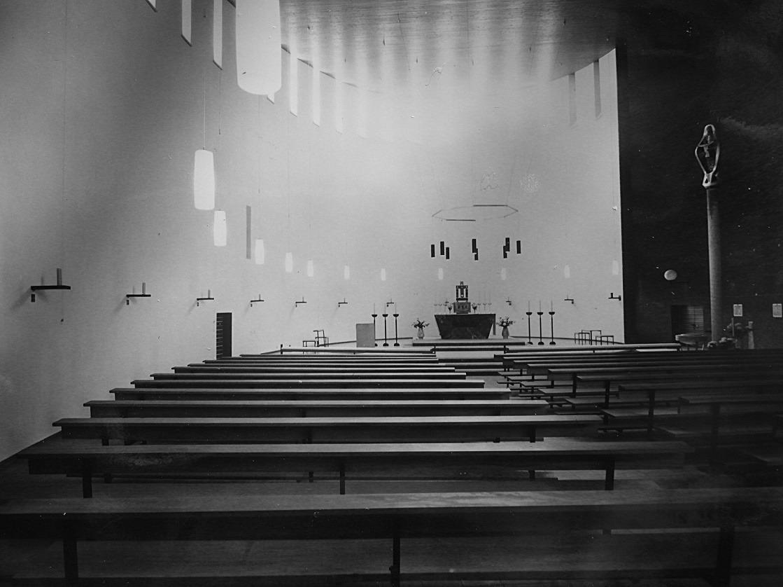 Bremen-Neue Vahr | St.Hedwig | Innenraum in den 1960er Jahren | Foto: Katholische Pfarrgemeinde St. Raphael Bremen