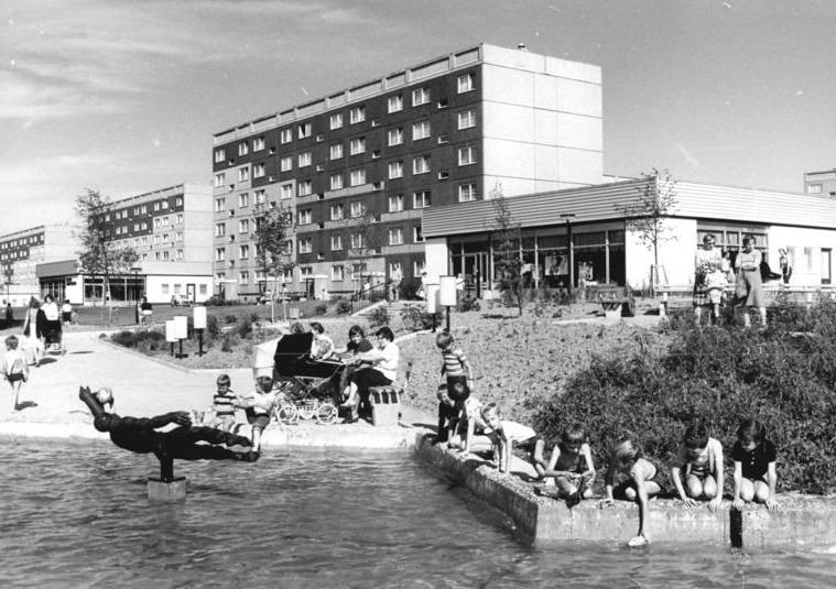 Chemnitz | Neubausiedlung Fritz Heckert, 1982 | Bild: Bundesarchiv Bild 183-1982-0823-006, Foto: Wolfgang Thieme