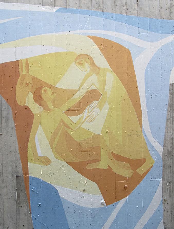 Seligenstadt | St. Marien | Wandmalerei | Foto: Karin Berkemann