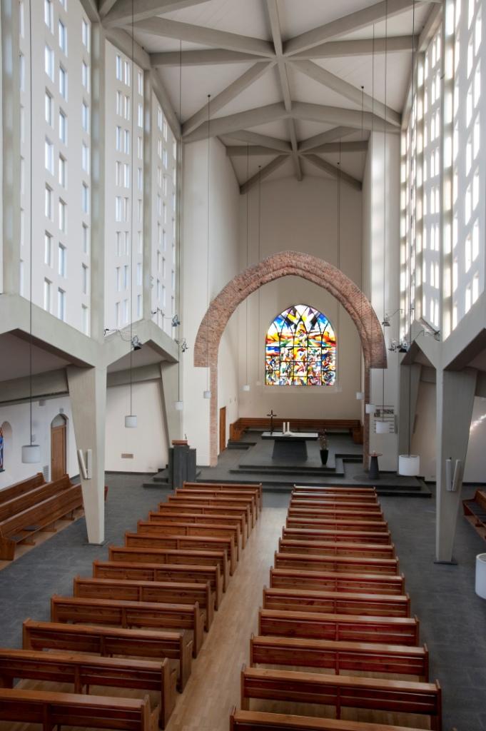 Frankfurt am Main-Nordend | Epiphaniaskirche | Innenraum | Foto: Christine Krienke, Landesamt für Denkmalpflege Hessen