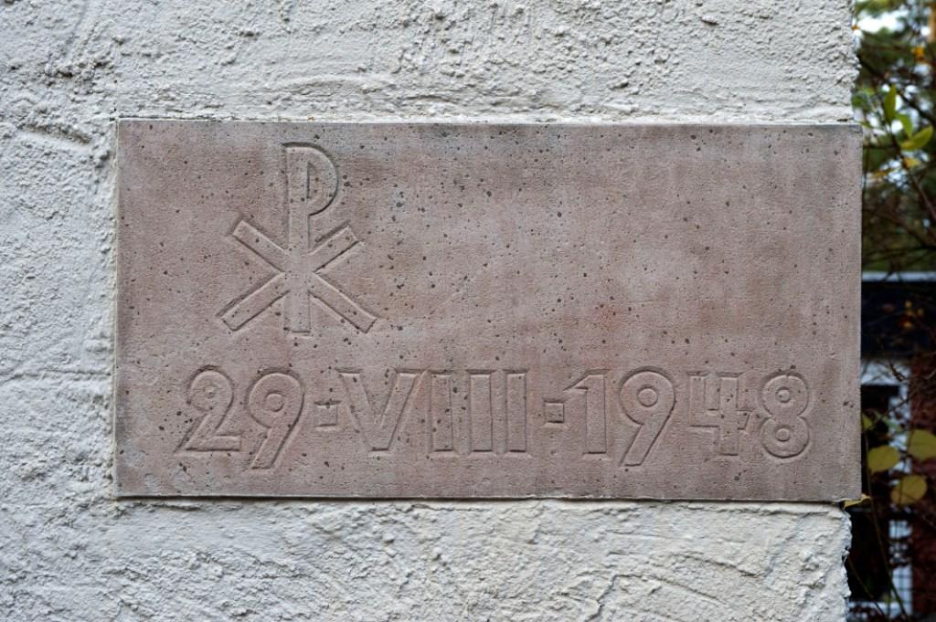 Frankfurt am Main-Frankfurter Berg | Bethanienkirche | Grundstein | Foto: Christine Krienke, Landesamt für Denkmalpflege Hessen