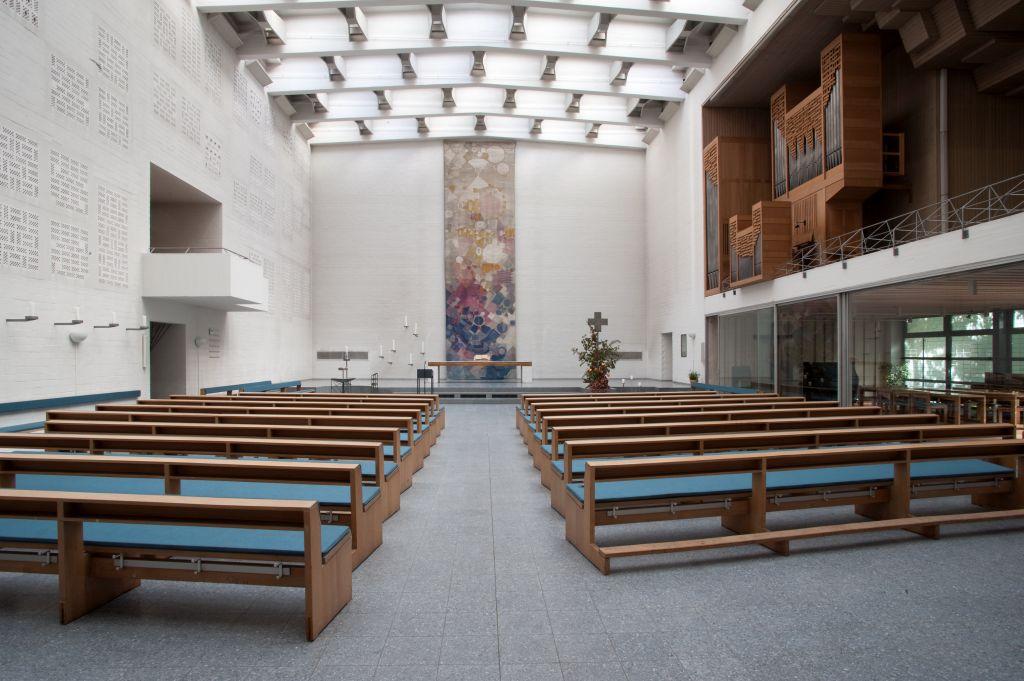 Frankfurt am Main-Heddernheim | Cantate Domino | Innenraum | Foto: Christine Krienke, Landesamt für Denkmalpflege Hessen