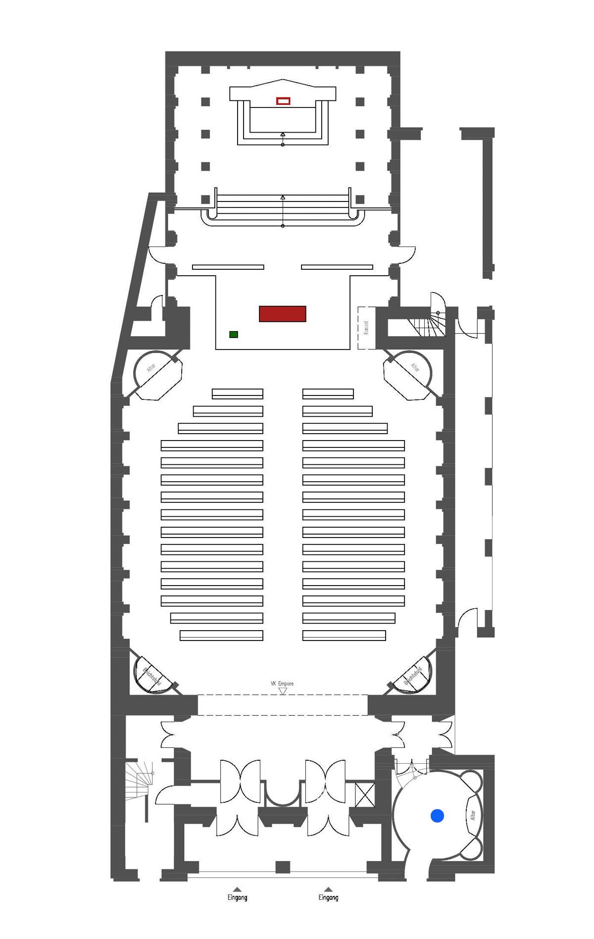 Berlin-Prenzlauer Berg | St. Augustinus | Grundriss