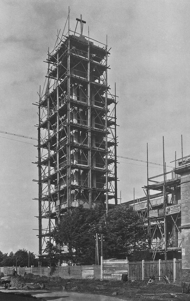 Leipzig-Gohlis | Versöhnungskirche | Baustelle 1932 | Foto: Atelier Hermann Walter