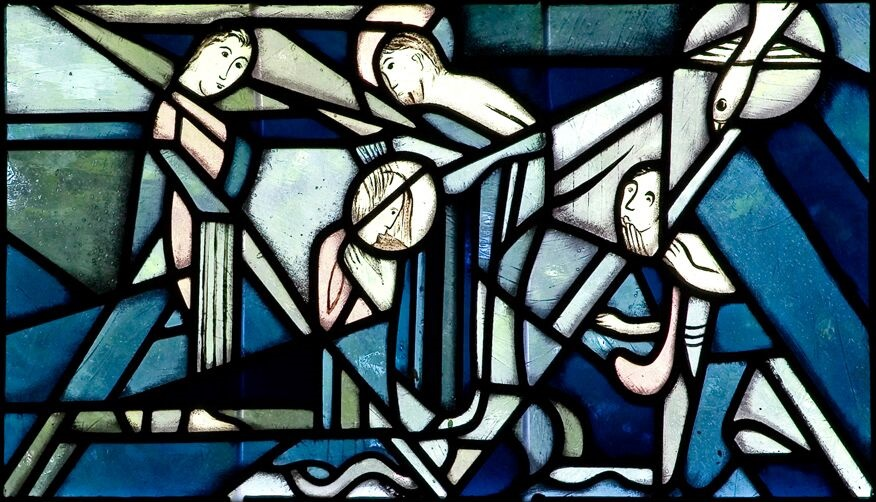 Leipzig-Connewitz | St. Bonifatius | Fenstergestaltung | Foto: Pia Landmann, Bild: Ruth und Theo M. Landmann Archiv e. V.