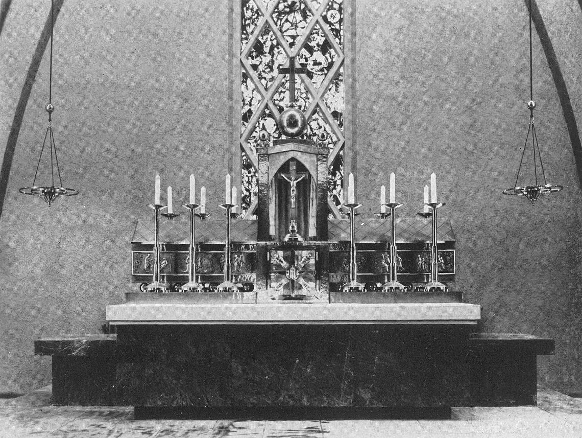 St. Ingbert | St. Hildegard | Hochaltar um 1930 | Bildquelle: Die christliche Kunst 26, 1929/30, 334