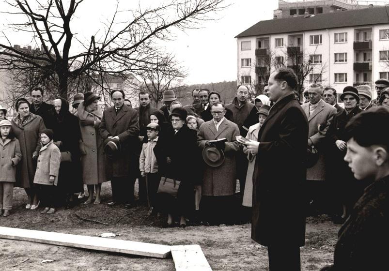 Wetzlar | St. Bonifatius | Grundsteinlegung 1962 | Foto: Katholische Kirchengemeinde Unsere Liebe Frau Wetzlar