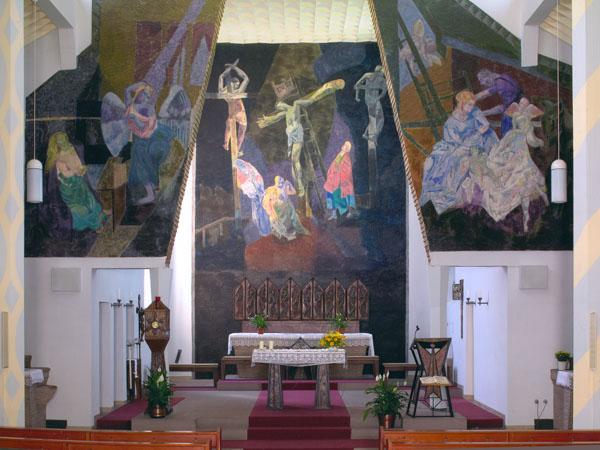 Karlstein am Main-Dettingen | St. Peter und Paul | Altarraum | Foto: Michael Pfeifer