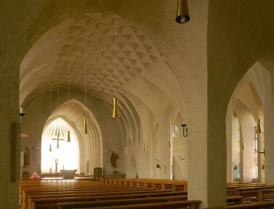 Neu-Ulm | St. Johann Baptist | Innenraum | Foto: Ramessos, PD/gemeinfrei
