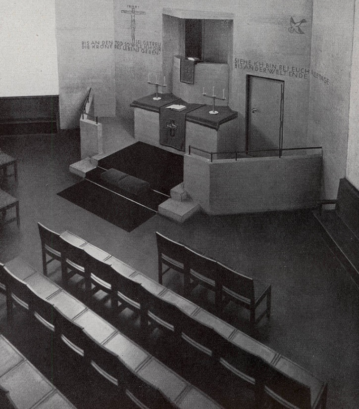 Frankfurt am Main | Gustav-Adolf-Kirche | Aufnahme um 1928 | Quelle: M. Göllner/M. Elsaesser: Bauten und Entwürfe, Berlin 1933