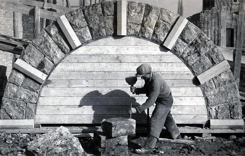 Schwarzach am Main | Abteikirche Münsterschwarzach | Bauarbeiten | Foto: Abtei Münsterschwarzach, Mitte der 1930er Jahre