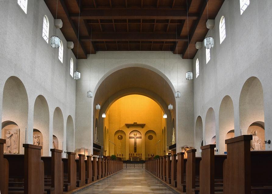 Schwarzach am Main | Abteikirche Münsterschwarzach | Innenraum | Foto: Christian Klein/Jennifer Verhoeven