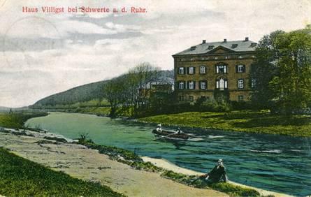 Schwerte | Haus Villigst | Historische Postkarte Der Mitte Des 20.  Jahrhunderts