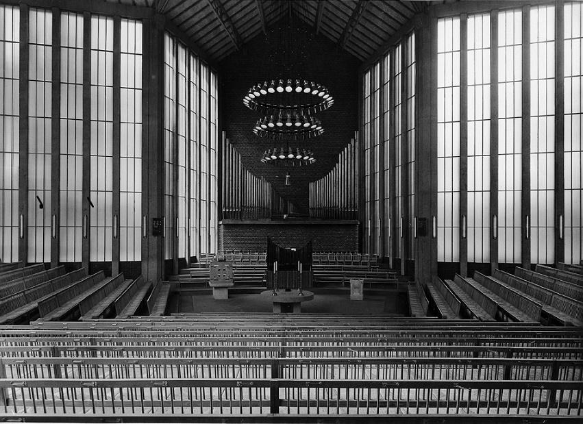 Düren | Christuskirche | Innenraum vor 1967 | Foto: Archiv der Evangelischen Gemeinde zu Düren