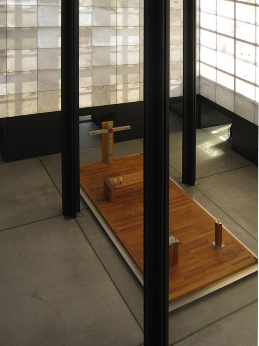 Körner | Christus-Pavillon im Kloster Volkenroda | Christusraum | Foto: Kloster Volkenroda