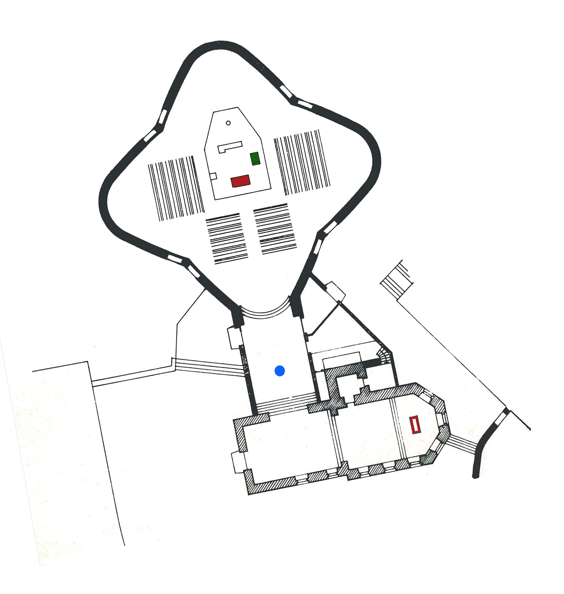 Alzenau-Kälberau | Maria zum rauhen Wind | Grundriss