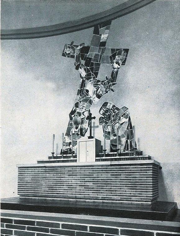 Bad Dürrenberg | St. Bonifatius | Altarraum um 1931 | Bildquelle: Der Privatarchitekt 7, 1932, 9, 107