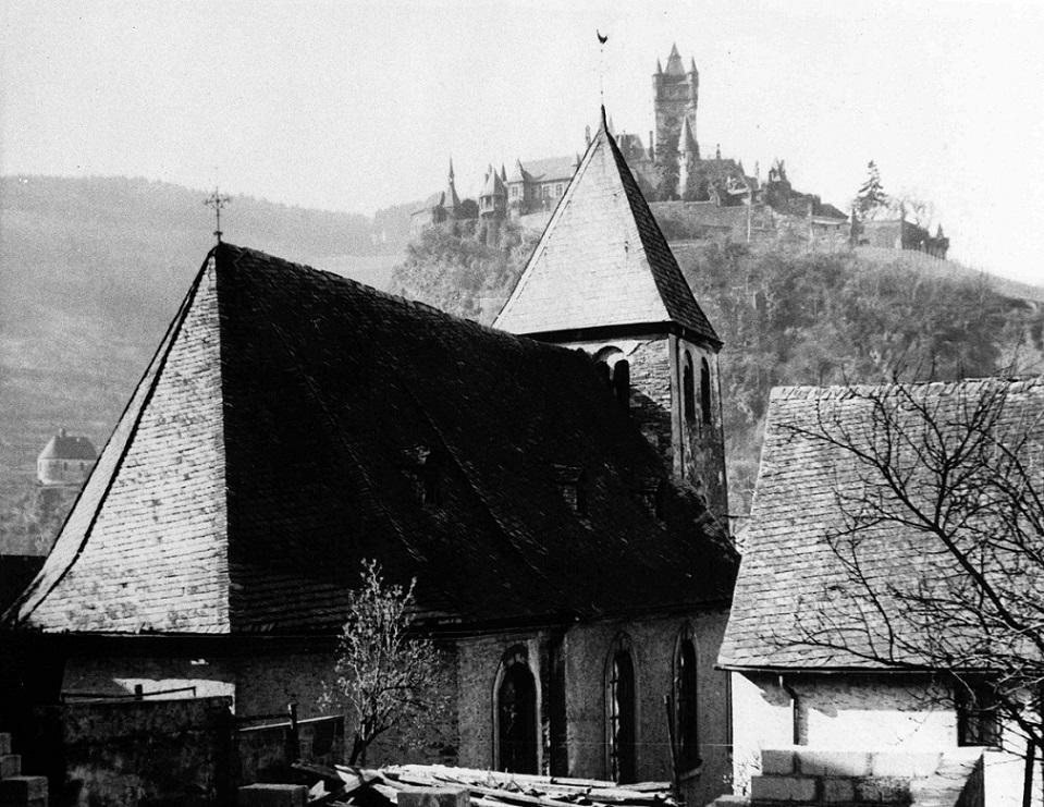 Cochem-Cond | St. Remaclus | Vorgängerbau um 1967 | Foto: Archiv Hermann Schüller, Bild: Honnenstein, CC BY SA 4.0