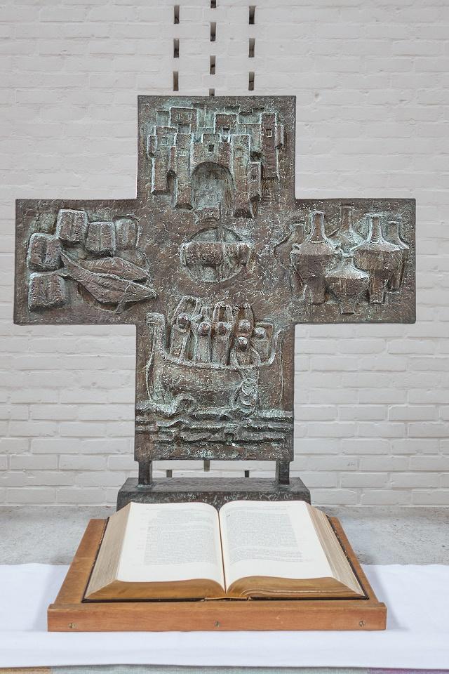 Hanau | Christuskirche | Altarkreuz | Foto: Gerhard Jost, Bild: Ev. Stadtkirchengemeinde Hanau