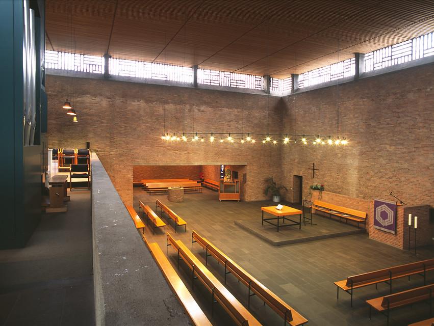 Krefeld-Bockum | Christuskirche | Innenraum | Foto: LVR-Amt für Denkmalpflege im Rheinland, Jürgen Gregori