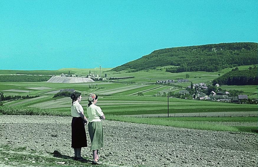Kalibergwerg Bischofferode und Ort Holungen im Jahr 1941 | Foto: Gerhard Haubold, GFDL oder CC BY SA 3.0
