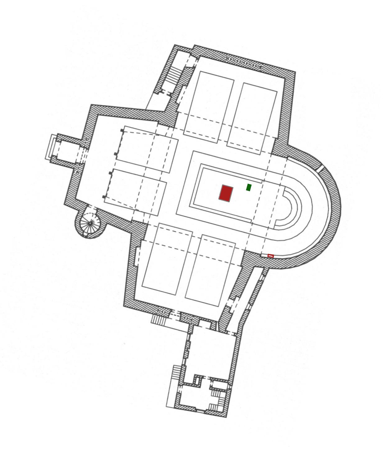 Cochem-Cond | St. Remaclus | Grundriss | Reissmann+Thiel, mit Genehmigung der Pfarrei Cochem-Cond