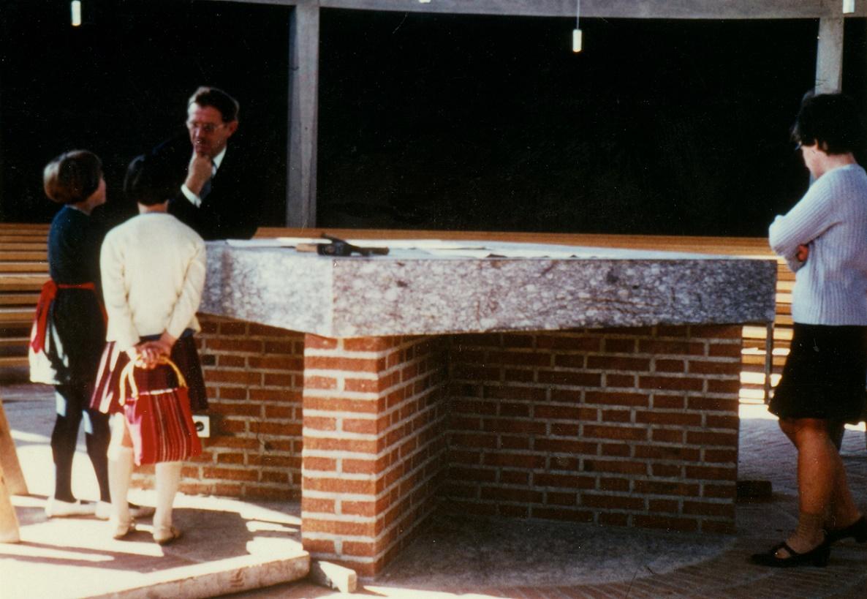 Landsberg am Lech | Zu den Heiligen Engeln | Josef Wiedemann auf der Baustelle | Foto: Archiv – Pfarrei Zu den Heiligen Engeln, Landsberg am Lech