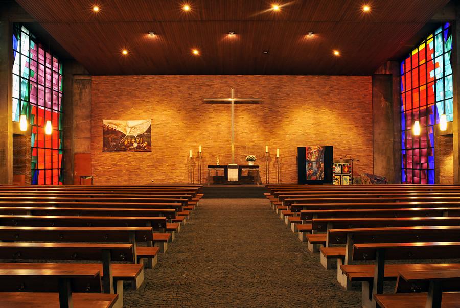 Oberhausen | Markuskirche | Innenraum | Foto: LVR-Amt für Denkmalpflege im Rheinland, Jürgen Gregori