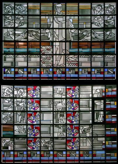 Essen | Auferstehungskirche | Glasgestaltung | Foto: Forschungsstelle Glasmalerei des 20. Jahrhunderts e. V.