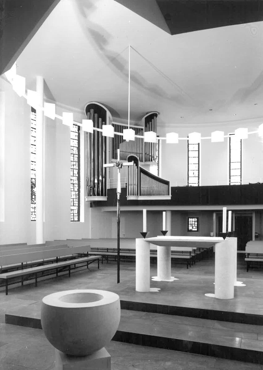 Lauenburg-Aumühle | Bismarck-Gedächtnis-Kirche | nach 1966 | Foto: Georg Baur, Archiv Grundmann/Hamburgisches Architekturarchiv