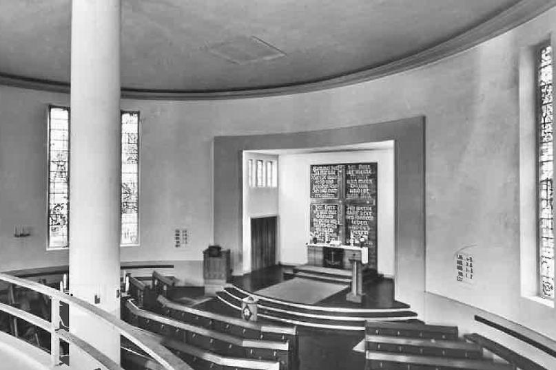 Aumühle | Bismarck-Gedächtnis-Kirche | Innenraum vor 1966 | Foto: Archiv Grundmann