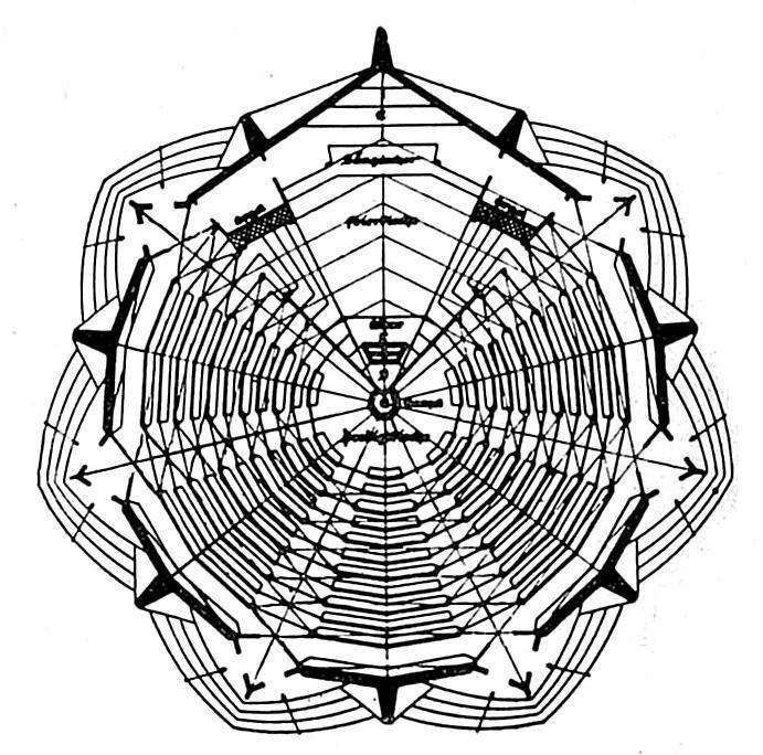 Otto Bartning | Sternkirche | Grundriss-Entwurf