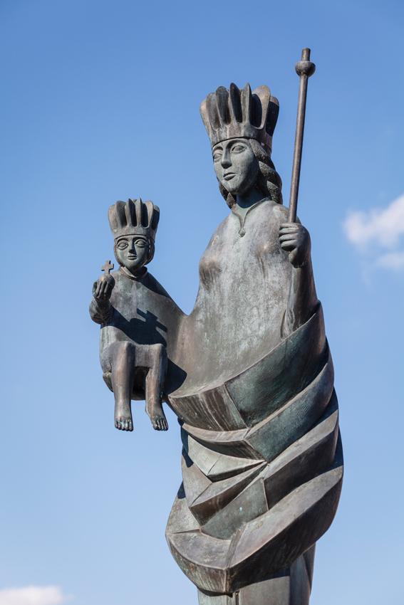 Augsburg | St. Don Bosco | Mariensäule | Foto: Reinhold Banner