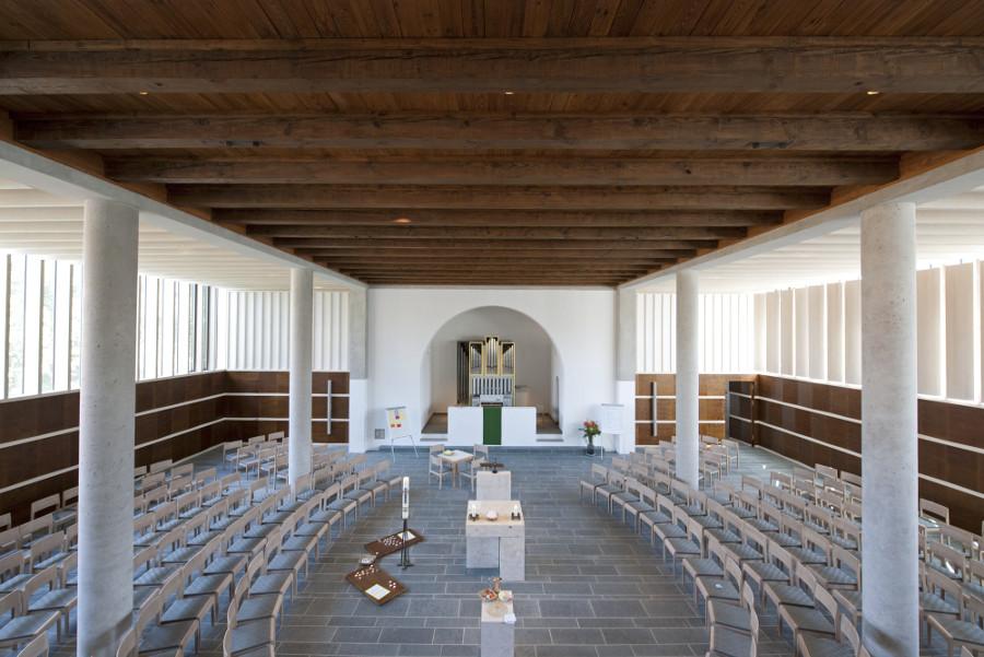 Herzogenaurach | Evangelische Kirche | Innenraum | Foto: HeidelbergCement AG/Steffen Fuchs