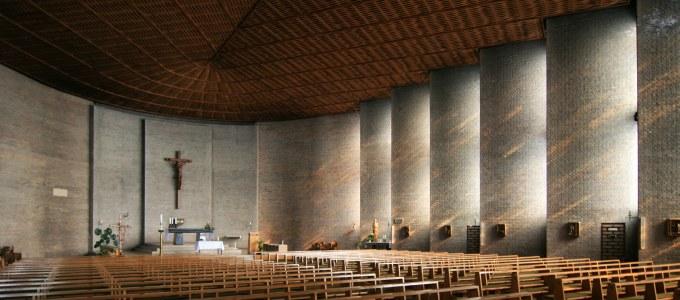 Karlsruhe | St. Konrad | Innenraum vor der Renovierung | Foto: Martin Schall