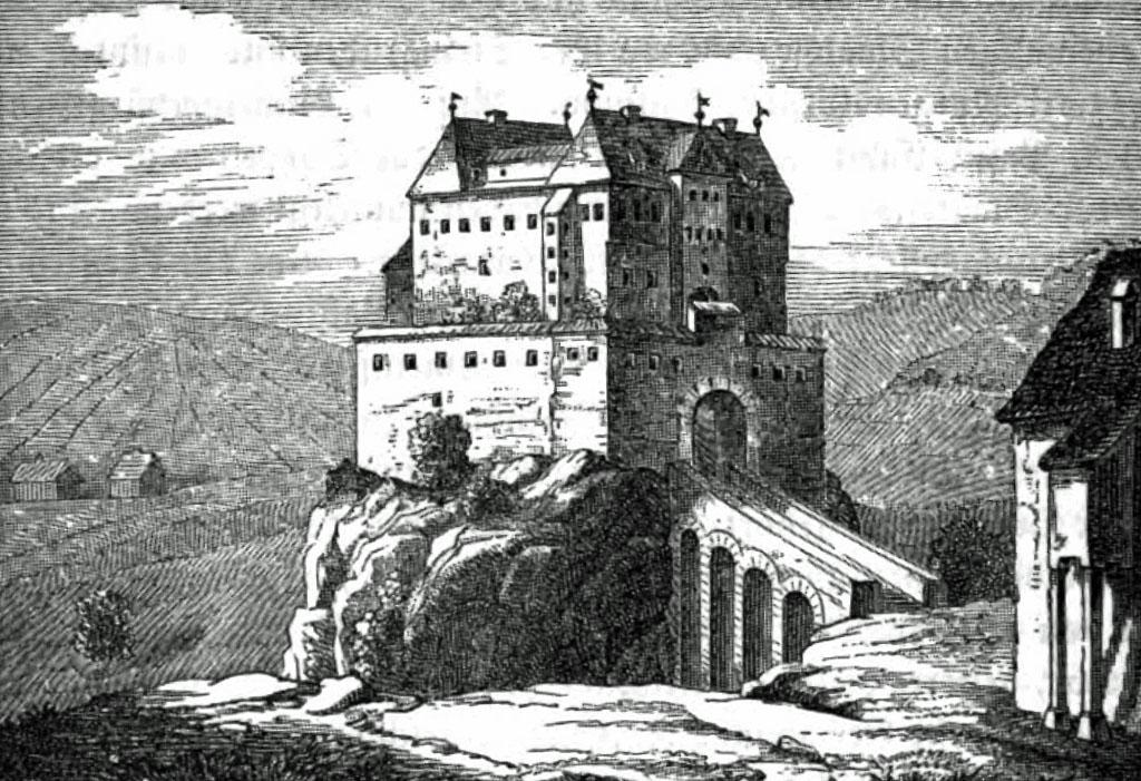 Schloss Kaltental | Foto: Karl Eduard Paulus, Beschreibung des Oberamts Stuttgart, 1851, PD