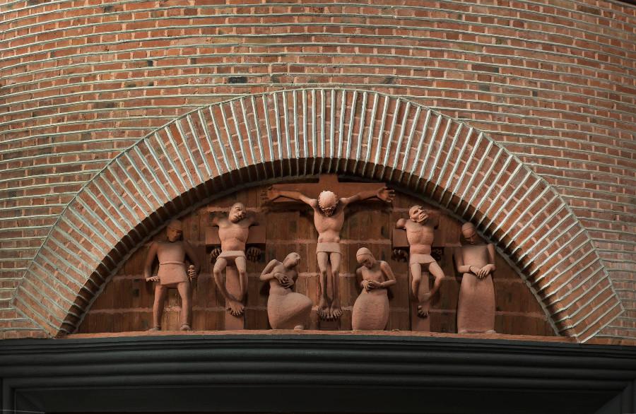 Esslingen | Südkirche | Relief | Foto: Rose Hadju