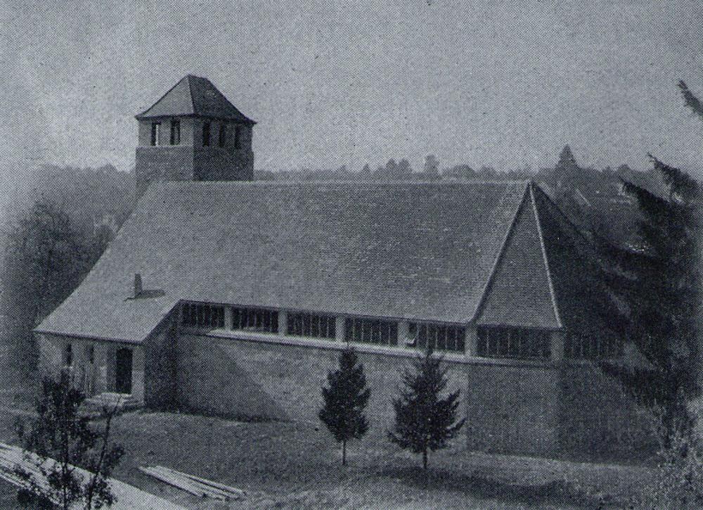 Pforzheim | Auferstehungskirche | Außenbau | Foto: Ev. Johannesgemeinde Pforzheim/Archiv bzw. privat, Ansicht von 1948