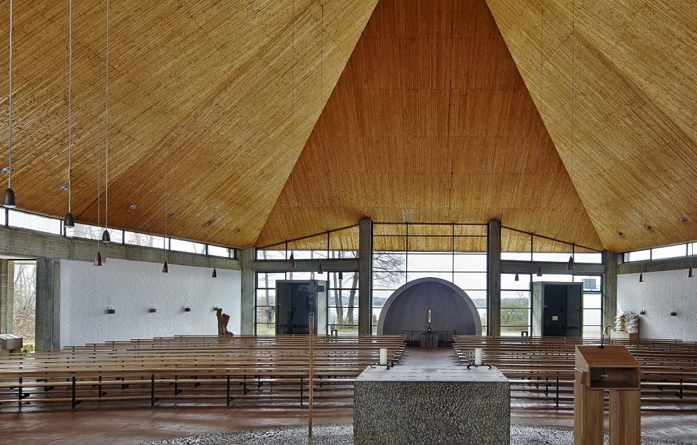 Wörthsee | Zum Heiligen Abendmahl | Blick zur Taufkapelle | Foto: Siegfried Wameser