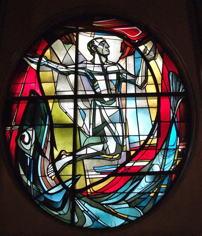 Friedland I St. Norbert | Ludwig Baur: Jonafenster | Foto: Bistum Hildesheim, Kirchliche Denkmalpflege