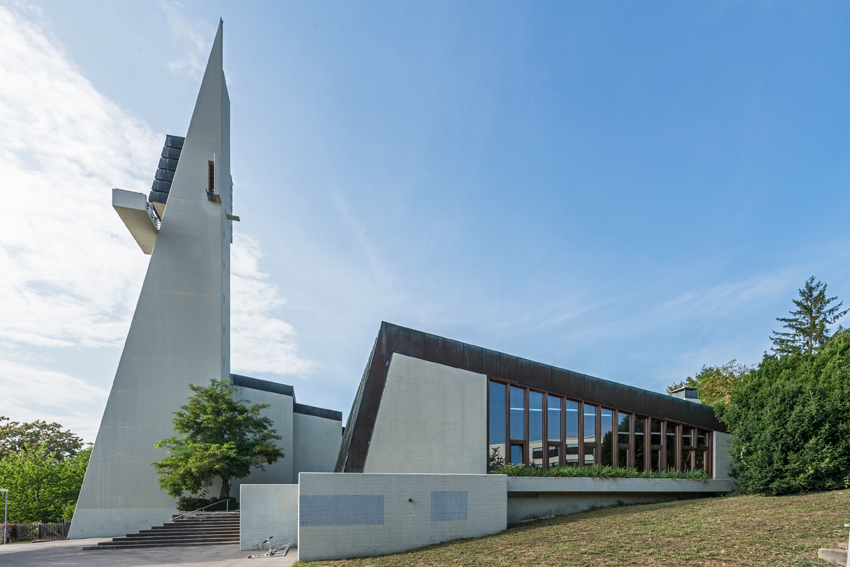 Leonberg I ev. Versöhnungskirche | Außenbau | Foto: Iris Geiger-Messner/ Landesamt für Denkmalpflege im Regierungspräsidium Stuttgart
