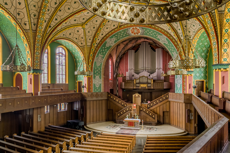 Wiesbaden | Ev. Lutherkirche | Innenraum | Foto: Axel Sawert, ev. Lutherkirchengemeinde Wiesbaden