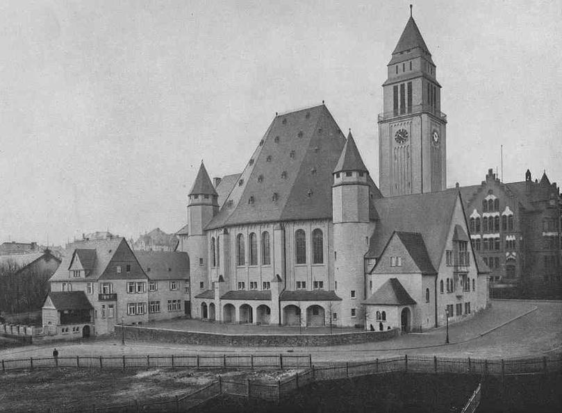 Wiesbaden | Ev. Lutherkirche | Bild | Foto: Historische Postkarte, Stadtarchiv Wiesbaden